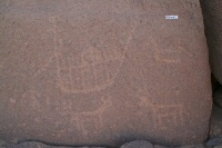 Large boats and cattle motifs from US310